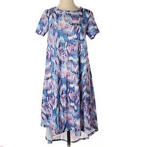 Lularoe Short Sleeve Tie-Dye Midi Dress
